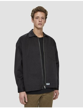 Oversize Zip Workshirt In Almost Black by Dickies Construct