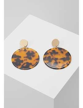 Tortoiseshell Disc Drop Earring   Earrings by Warehouse