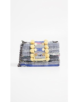 Soho Large Pom Poms Shoulder Bag by Kooreloo
