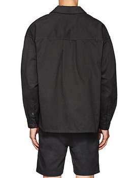 Logo Cotton Oversized Shirt Jacket by Dickies Construct