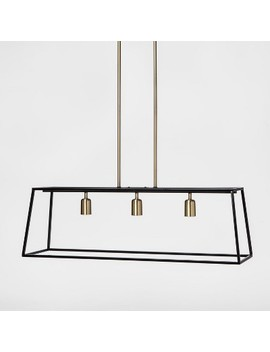 3 Light Pendant Modern Farmhouse Ceiling Light Black   Threshold™ by Shop Collections