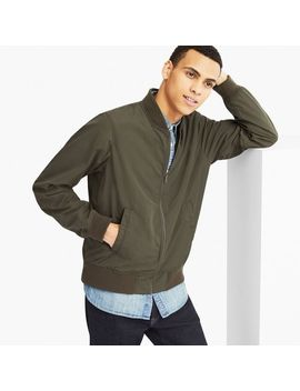 Men Short Ribbed Blouson by Uniqlo