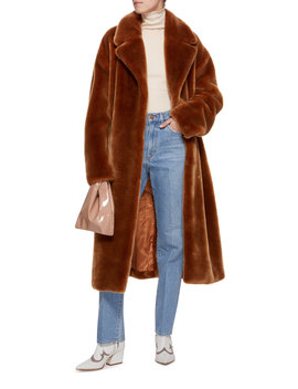 Faux Fur Belted Coat by Tibi