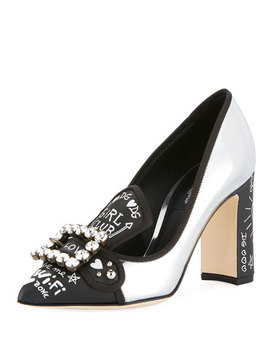Bellucci Metallic Leather Pumps by Dolce & Gabbana