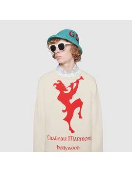 Sweatshirt With Chateau Marmont Print by Gucci