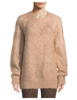 Mohair Crewneck Pullover Sweater by T By Alexander Wang