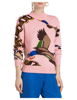 Duck Intarsia Pullover Sweater by Burberry