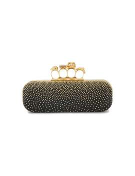 Gold Stud Knuckle Duster Clutch Bag by Alexander Mc Queen