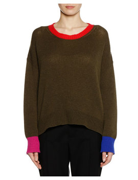 Crewneck Long Sleeve Cashmere Knit Sweater by Marni