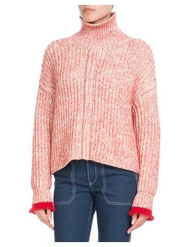 Turtleneck Long Sleeve Wool Blend Knit Sweater by Chloe