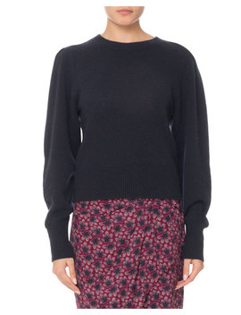 Crewneck Puff Sleeve Cashmere Sweater by Isabel Marant