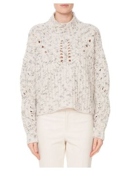 High Neck Mélange Wool Knit Pullover Sweater by Isabel Marant
