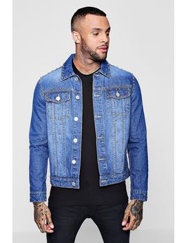 Studded Denim Jacket by Boohoo