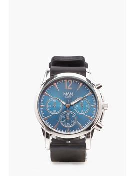 Navy Smart Multi Face Watch by Boohoo