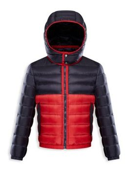 Little Boy's & Boy's Breach Colorblock Hooded Jacket by Moncler