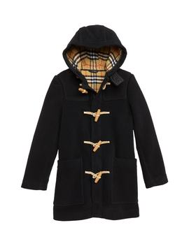 Burford Double Face Wool Duffel Coat by Burberry