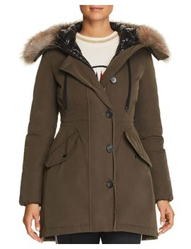 Monticole Fur Trim Down Parka by Moncler