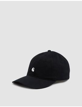 Madison Logo Cap In Black by Carhartt Wip