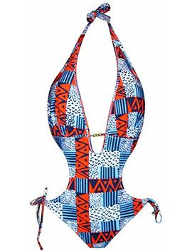 Nwsc Women's Halter One Piece Monokini Swimsuit Bikini by Nwsc