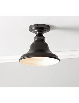 Pb Classic Flush Mount   Curved Metal Bell by Pottery Barn