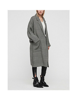Lara Belted Checked Wool Coat by Allsaints