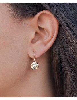 Hoop Earrings, Huggie Hoops With Eye Pendant, Turkish Eye Ring, Earrings With Pendant, Silver Earrings With Zirconia, Cz Earrings by Etsy