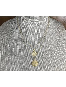 Vegas Gold Coin  2 Piece Necklace Set *  14k Gold Filled Chain * Coins * Coin Pendants * Delicate *Dainty *  Minimal *Simple * Fun by Etsy