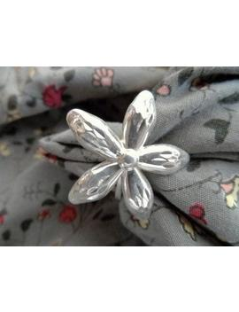925 Silver Flower Ring  Size 6.5  Unique Style  Retro Cool Flower Power Ri Ng Vintage Costume Jewelry  Large Single Flower by Etsy