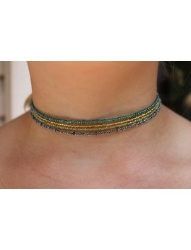 Choker; Stackable Beaded Chokers by Etsy