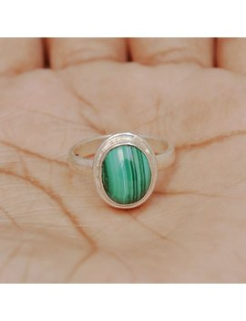 Sale Natural Exclusive Malachite Gemstone Ring, Wedding Gift, Engagement Ring, 925 Sterling Silver Ring, Malachite Ring, All Size Available, by Etsy