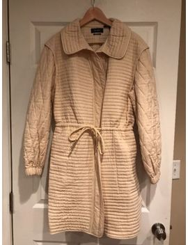 "Isabel Marant ""Boyd"" Ecru Quilted Coat, Size 12 (Us) 44 (Eu) Nwt! $885 by Isabel Marant"
