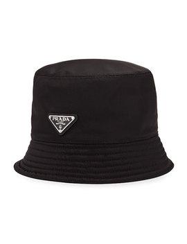 Men's Nylon Bucket Hat With Logo by Prada
