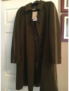 burberry-brit-olive-long-coat-*new*-w_-tags-size-42-eu-8-us by burberry-brit