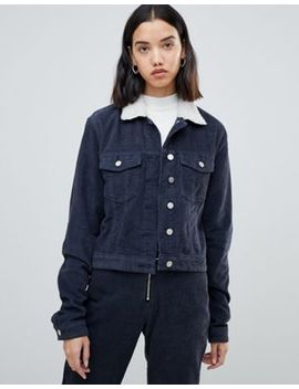 Fae Corduroy Co Ord Trucker Jacket With Borg Collar by Asos