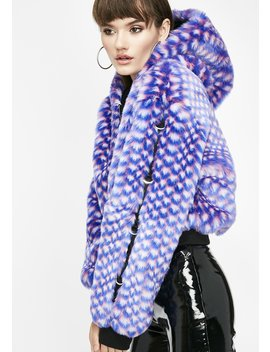 Shades Of Funk Furry Jacket by Better Be