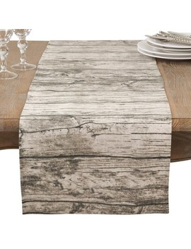 Natural Wood Grain Table Runner   Saro Lifestyle by Saro Lifestyle