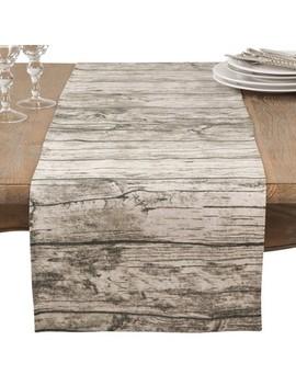 Natural Wood Grain Table Runner   Saro Lifestyle by Saro Lifestyle