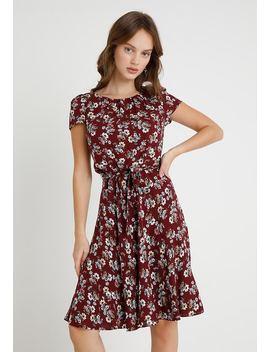 Floral Pleat Neck Dress   Sommerkjoler by Dorothy Perkins Petite