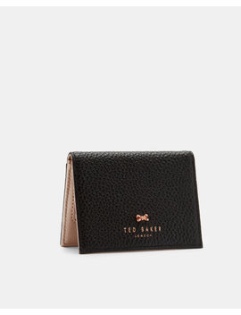 Bow Mirror Leather Card Holder by Ted Baker