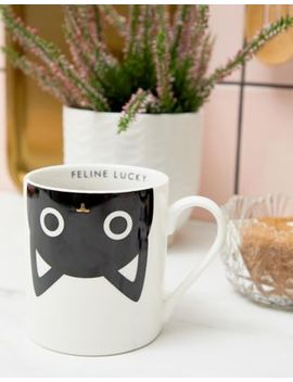 Paperchase Feline Lucky Mug by Paperchase