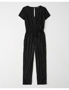 Short Sleeve Wrap Front Jumpsuit by Abercrombie & Fitch