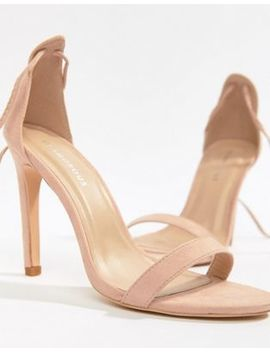 Glamorous Pink Ankle Tie Heeled Sandals by Glamorous