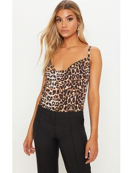 Leopard Print Frill Midi Skirt by Prettylittlething