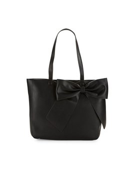 Fara Leather Bow Tote by Karl Lagerfeld Paris