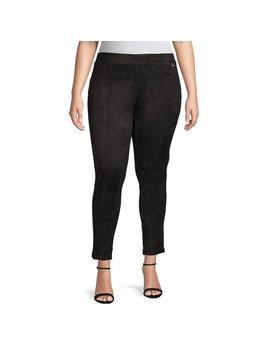 Plus Faux Suede Crop Pants by Calvin Klein