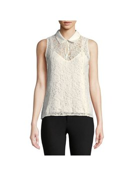 Sleeveless Lace Top by Calvin Klein