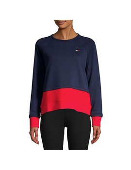 Contrast Panel Raglan Sweatshirt by Tommy Hilfiger Performance