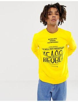 Cheap Monday Revolt Sender Sweatshirt Yellow by Cheap Monday