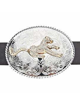 Iced Out Bling Leopard Western Style Belt by .Iced Out.