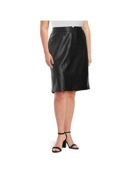 Plus High Waist Skirt by Context